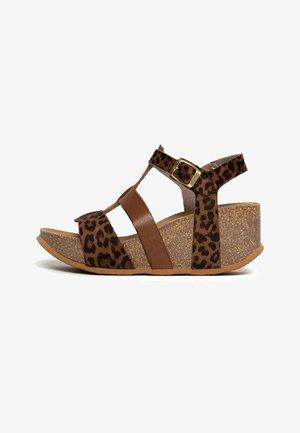 MAJORQUE - Sandały na platformie - brown