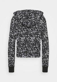 DKNY - SPLATTER PRINT HOODIE - Long sleeved top - black/white - 6