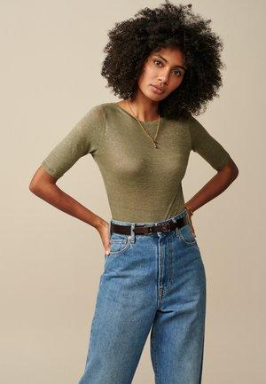 SEAS - Basic T-shirt - olivgrün