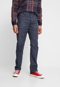 J.CREW - MILITARY CAMP PANT - Trousers - railroad navy - 0
