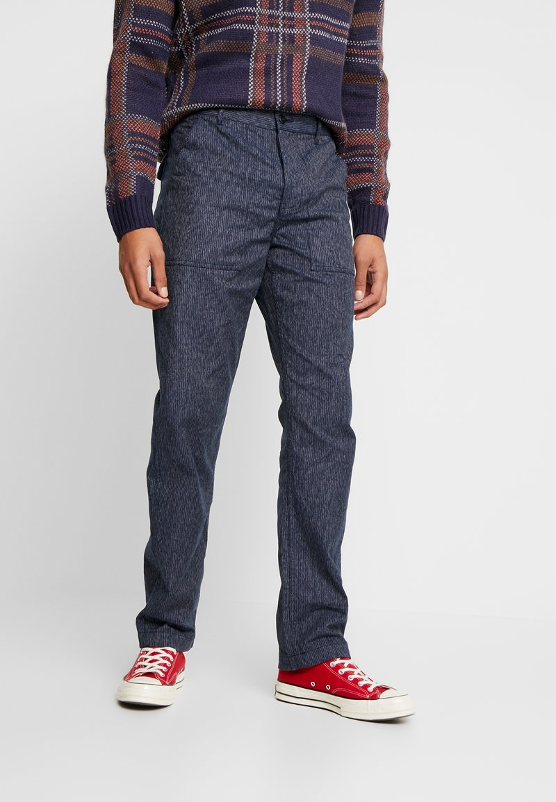 J.CREW - MILITARY CAMP PANT - Trousers - railroad navy