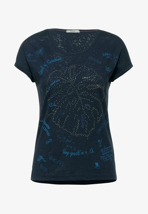 MIT BURNOUT-OPTIK - Print T-shirt - blau