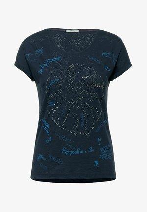 MIT BURNOUT-OPTIK - Print T-shirt - blau