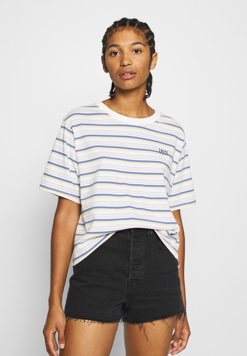 Levi's® - BOXY TEE - T-shirt con stampa - off-white/purple