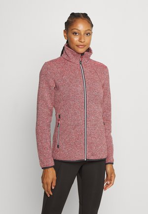 WOMAN JACKET - Veste polaire - red fluo/antracite