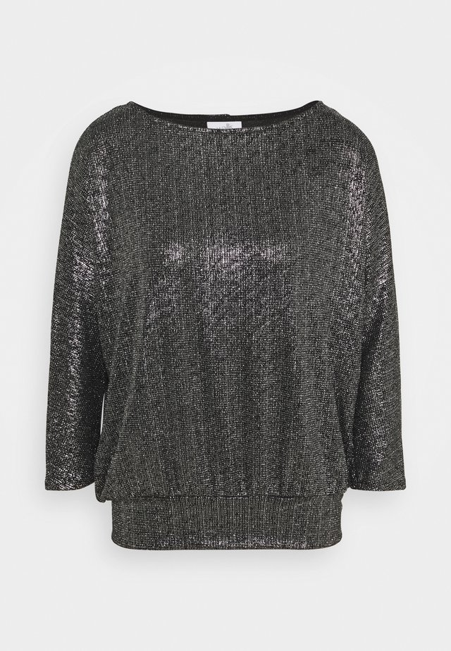 GLITTER DOLMAN SLEEVE - Long sleeved top - silver
