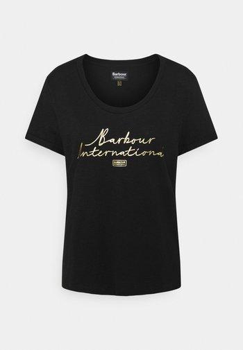 HALLSTATT TEE - Print T-shirt - black