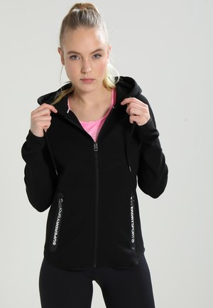 SPORT GYM TECH LUXE ZIPHOOD - Zip-up hoodie - black