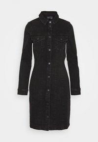 Vero Moda - VMAVIIS STITCH DRESS - Denimové šaty - black - 0