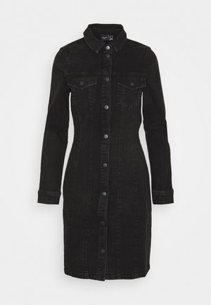 VMAVIIS STITCH DRESS - Denim dress - black