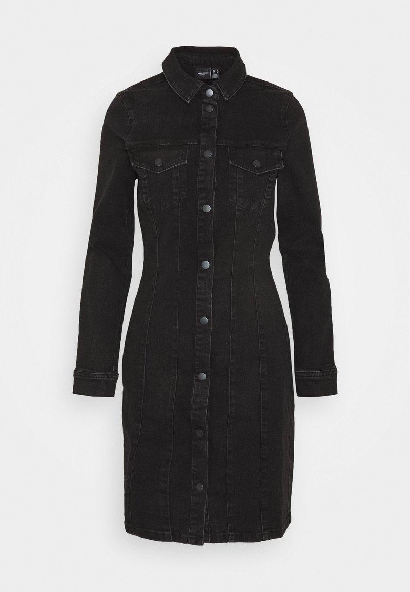 Vero Moda - VMAVIIS STITCH DRESS - Denimové šaty - black