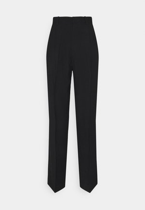SANDRA STRAIGHt ELONGATED - Trousers - black