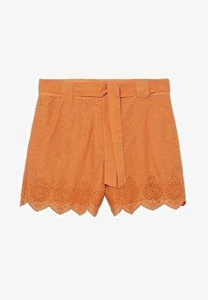 BESTICKTE - Shorts - orange
