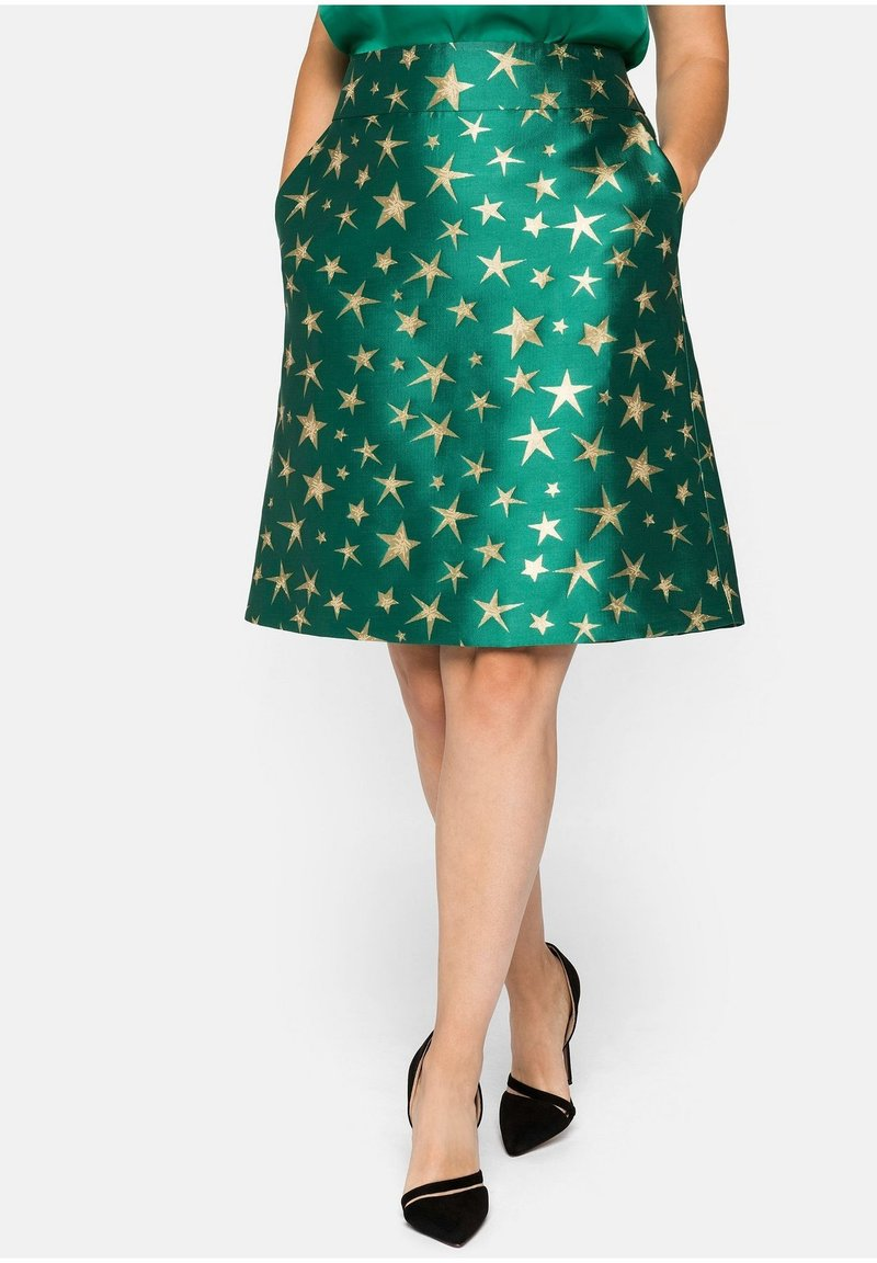Sheego - A-line skirt - powergrün