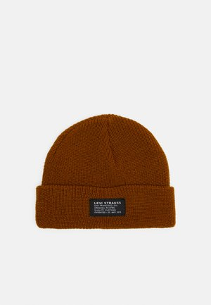 CROPPED BEANIE NO HORSE PULL PATCH UNISEX - Čepice - regular yellow