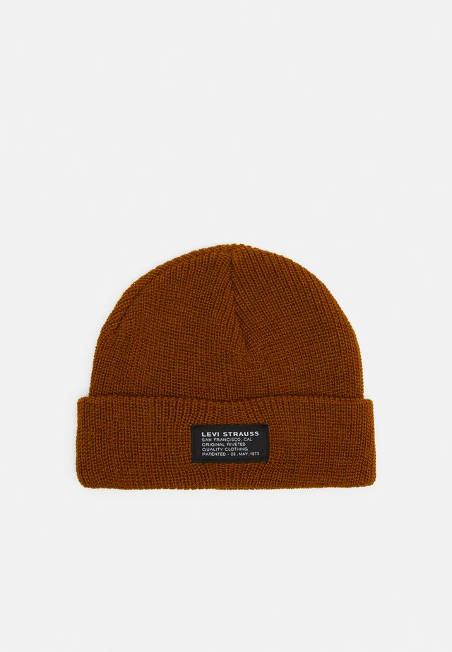 CROPPED BEANIE NO HORSE PULL PATCH UNISEX - Lue - regular yellow