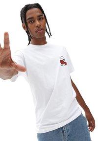 Vans - MN ROSE BED SS - T-shirt print - white - 1