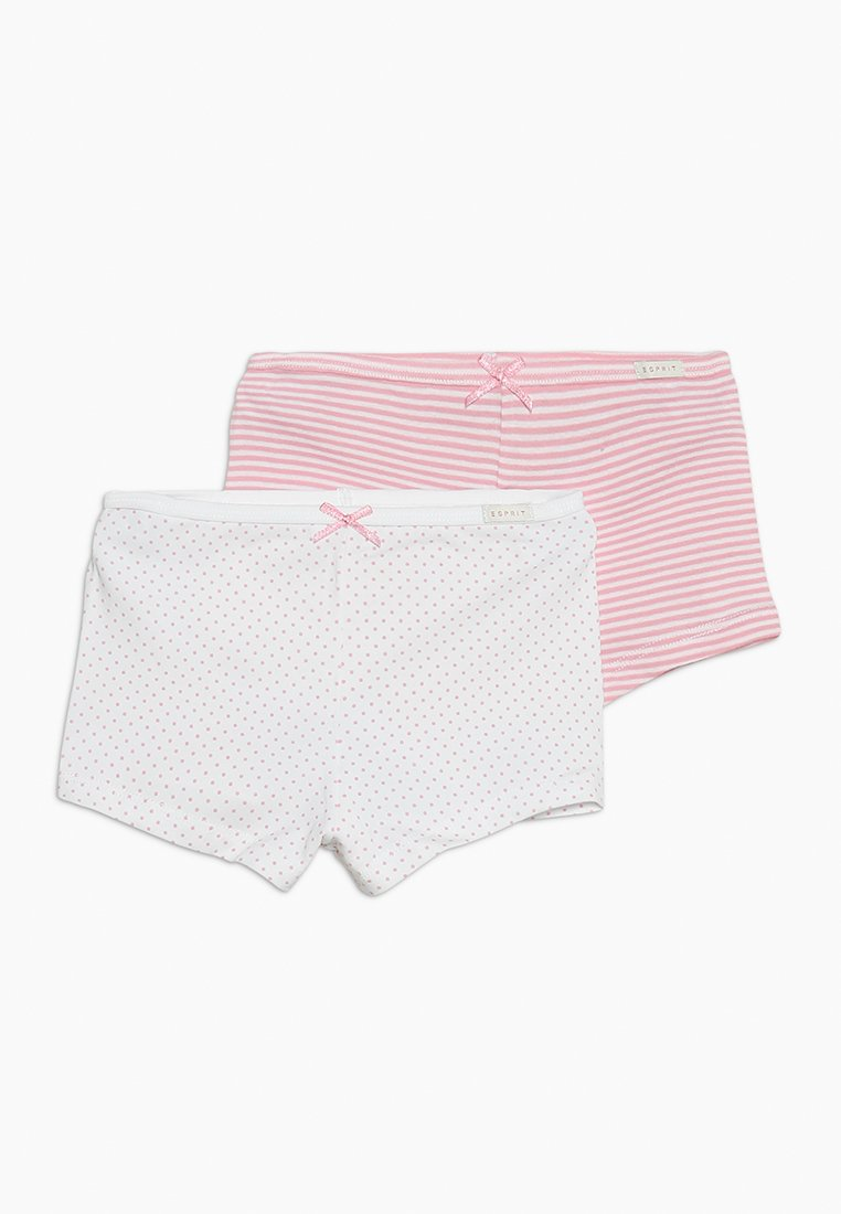 Esprit - GIRLIE MIX HOTPANTS 2 PACK - Pants - white