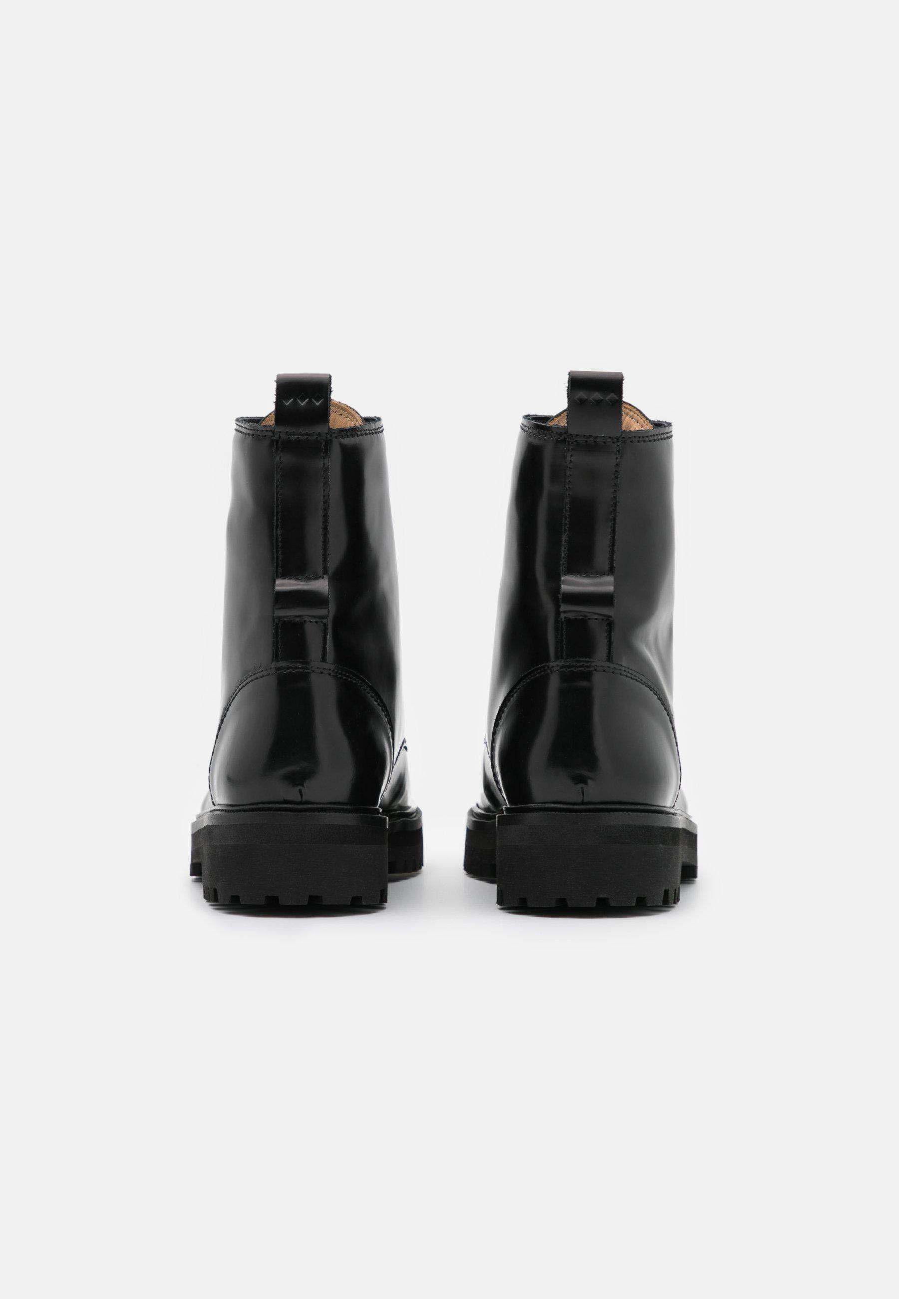 AVE HIKER COMBAT BOOT Enkellaarsjes met plateauzool black