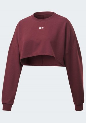 STUDIO MATERNITY CROPPED LONG SLEEVE TOP - Sweatshirt - burgundy