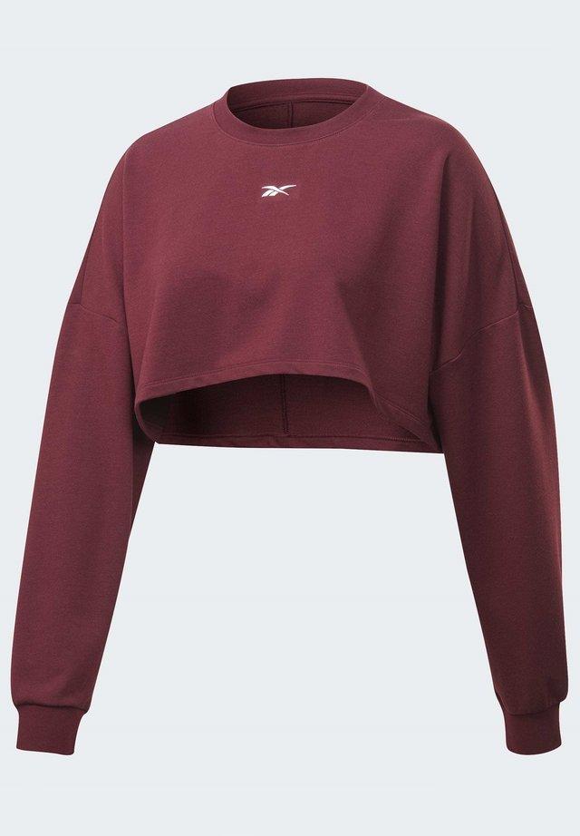 STUDIO MATERNITY CROPPED LONG SLEEVE TOP - Sweatshirt - burgundy
