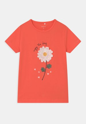 NMFDARUNA - Print T-shirt - persimmon