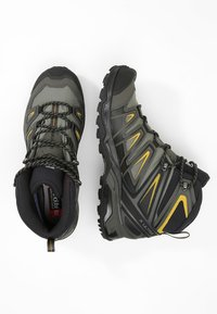 Salomon - X ULTRA 3 MID GTX - Scarpa da hiking - castor gray/black/green sulphur - 1