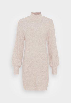 VMLEFILE HIGHNECK DRESS - Jumper dress - birch melange