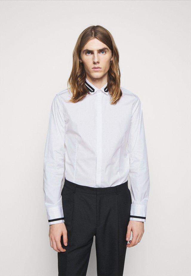 TUXEDO GROGRAIN TAPE COLL - Camicia - white/black