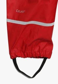 CeLaVi - BASIC RAINWEAR SUIT SOLID - Pantalones impermeables - red - 6