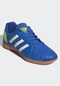 adidas Performance - TOP SALA UNISEX - Indoor football boots - globlue/white/royalblue - 6