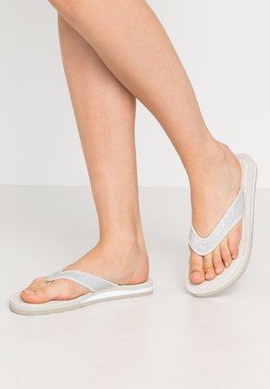 SLIDES - Sandalias de dedo - silver