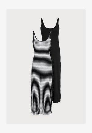 VMNANNA ANCLE DRESS PETITE 2 PACK - Maxi dress - black/black/snow white