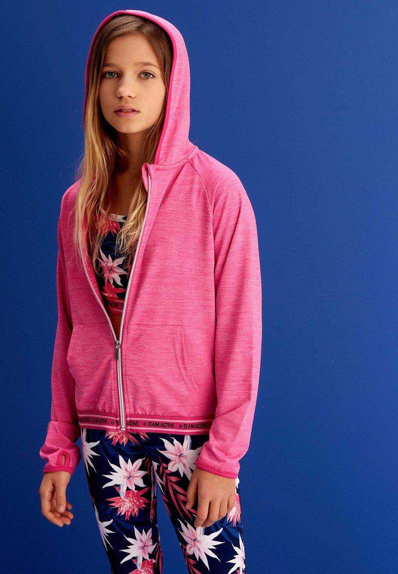 MINOTI - Zip-up sweatshirt - pink