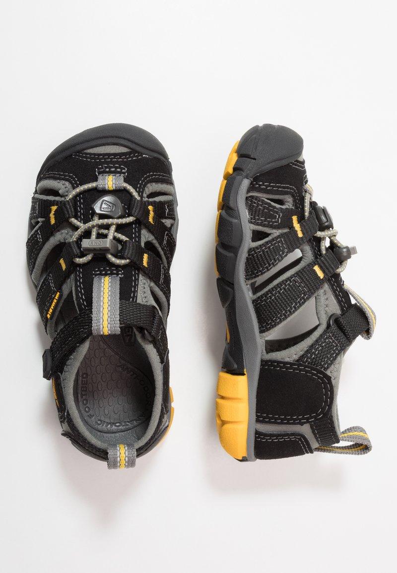 Keen - SEACAMP II CNX - Walking sandals - black/yellow