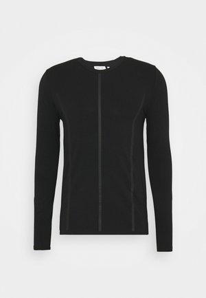 MOCK NECK LONG SLEEVE PANEL - Long sleeved top - black