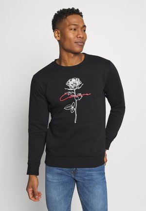 ROSE GRAPHIC CREW - Sweatshirt - black