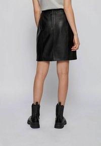 BOSS - Leather skirt - black - 2