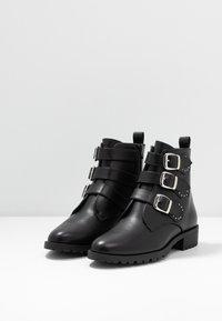 Anna Field - Cowboy/biker ankle boot - black - 4