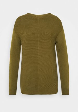LONGSLEEVE STRUCTURE MIX TURTLENECK - Strikpullover /Striktrøjer - olive green