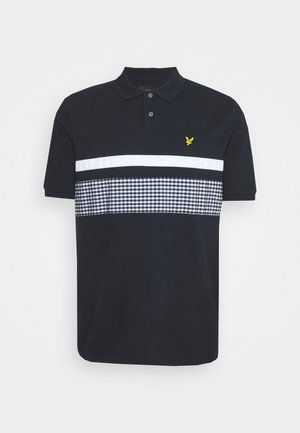 GINGHAM YOKE STRIPE  - Polo shirt - dark navy