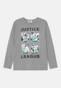 Staccato - MARVEL JUSTICE LEAGUE GLOW IN THE DARK TEEN - Maglietta a manica lunga - mottled dark grey - 0