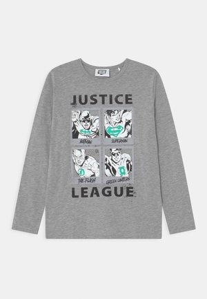 MARVEL JUSTICE LEAGUE GLOW IN THE DARK TEEN - Top sdlouhým rukávem - mottled dark grey
