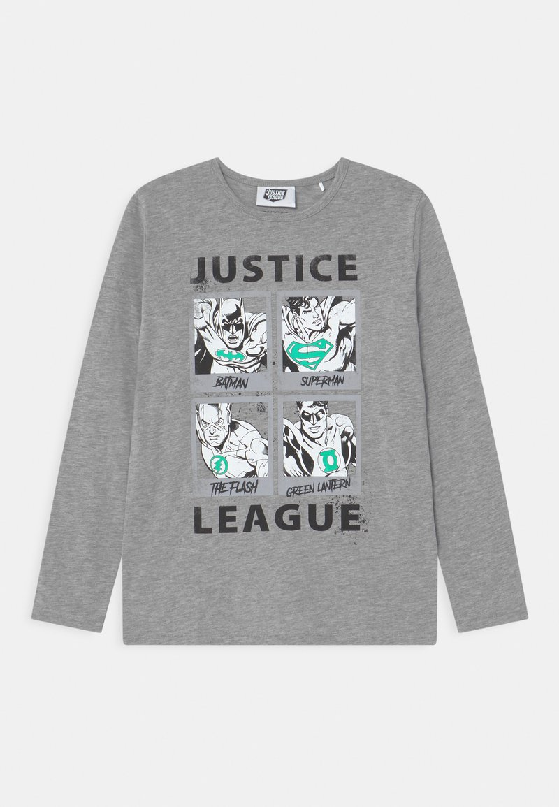 Staccato - MARVEL JUSTICE LEAGUE GLOW IN THE DARK TEEN - Maglietta a manica lunga - mottled dark grey