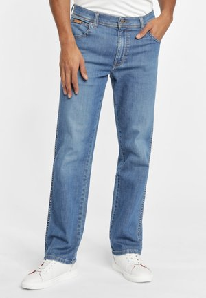 TEXAS - Straight leg jeans - mistral green