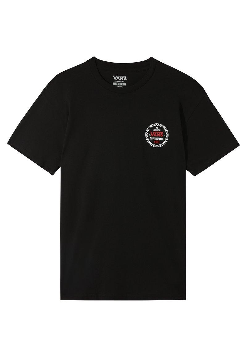Vans - CHECKER 66  - Print T-shirt - black