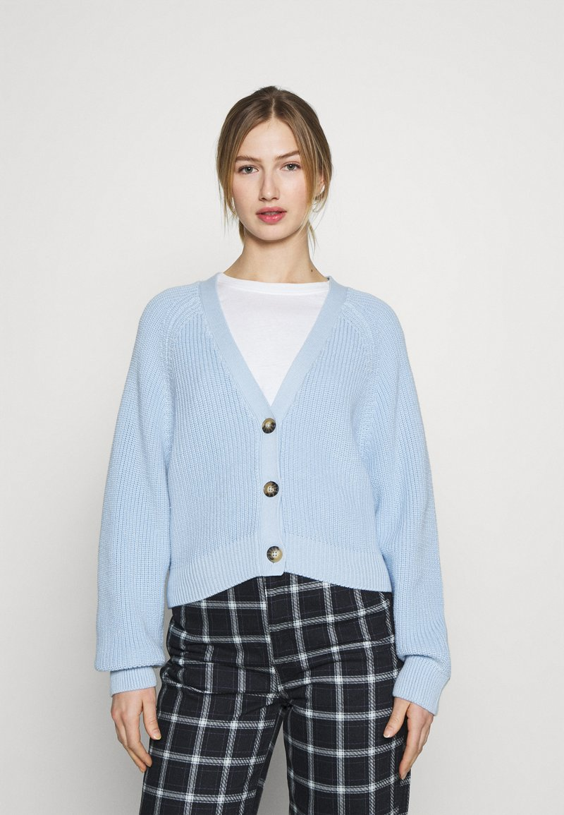 Monki - ZETA CARDIGAN - Cardigan - blue