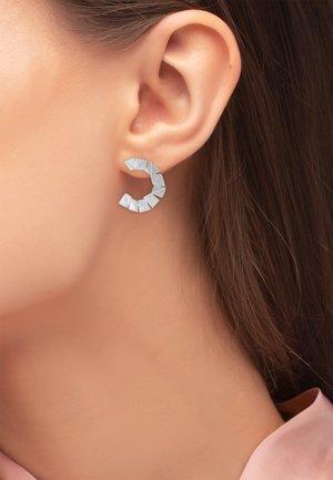 Earrings - silberfarben glanzmatt