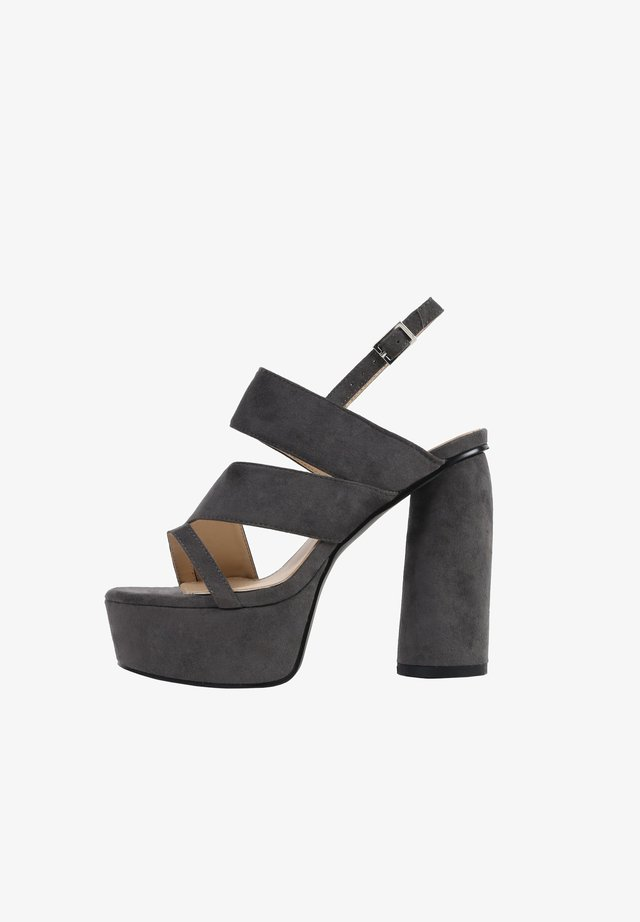 HALO - Sandalen met hoge hak - grey