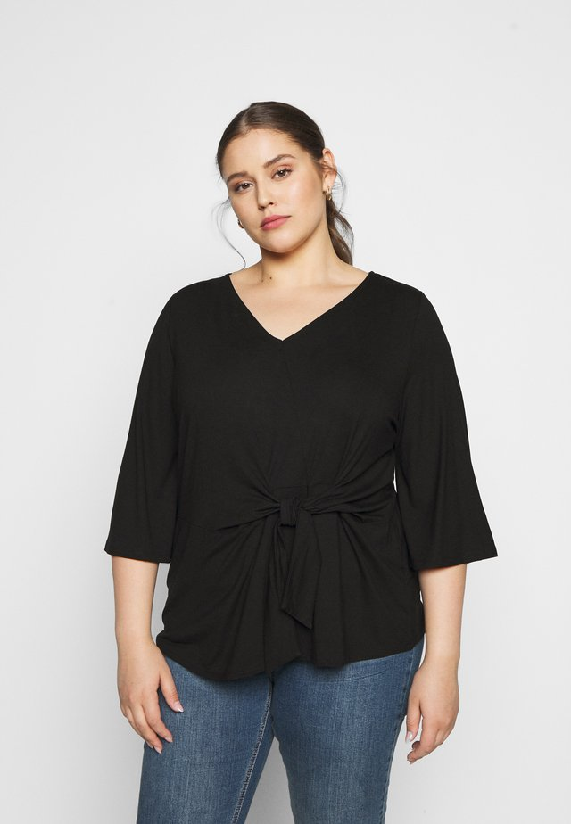 WRAP - Long sleeved top - deep black